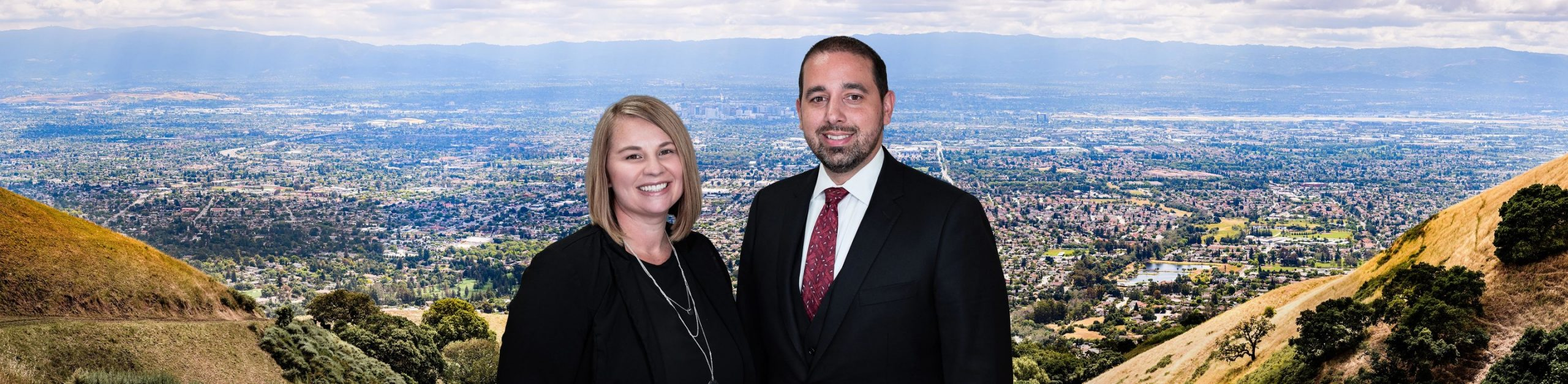 Maggie LaBranch-Gonzales and Justin Kennedy in front of Silicon Valley